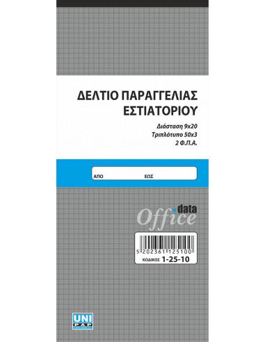 ΔΕΛΤΙΟ ΠΑΡΑΓΓ.ΕΣΤΙΑΤΟΡ.2ΦΠΑ 50Χ3 9Χ20