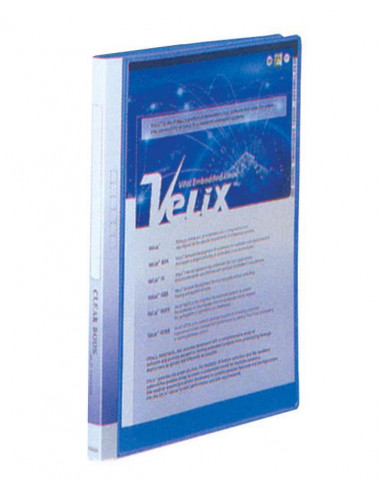 Comix σούπλ 30 φύλλων PP μπλε Α4 Υ31x23,5x19εκ.