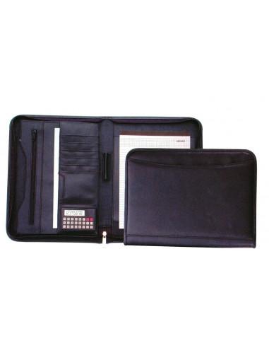 Fineline portfolio με φερμουάρ μαύρο Υ34x26x3εκ.
