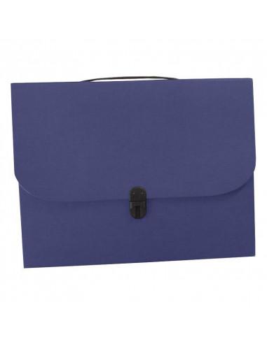 Next τσάντα συνεδρίων με κούμπωμα classic μπλε Υ36x28x4εκ.