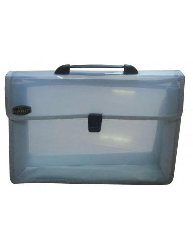 Comix τσάντα με κούμπωμα διάφανη Υ26x38.5x3.5εκ.