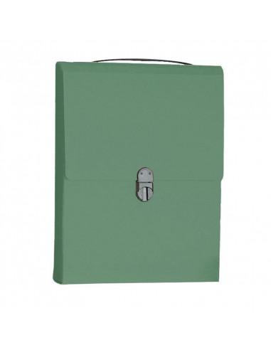 Next τσάντα συνεδρίων όρθια classic πράσινη Υ32x24x5εκ.
