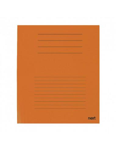 Next δίφυλλο παρουσίασης πορτοκαλί Υ31x23εκ.