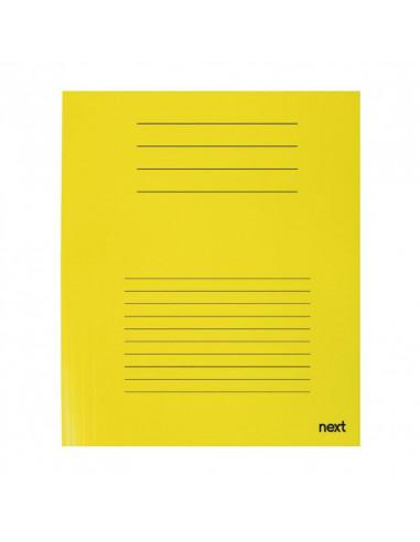 Next δίφυλλο παρουσίασης κίτρινο Y31x23εκ.