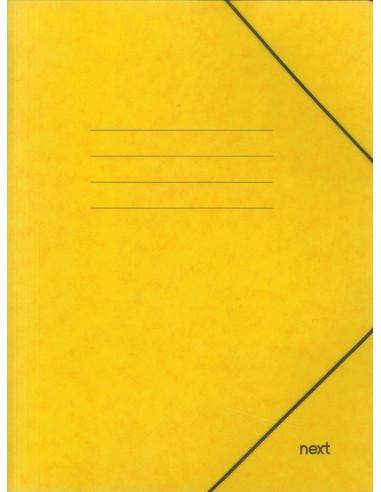 Next φάκελος με λάστιχο πρεσπάν κίτρινος Α3 Υ43x30x0εκ.