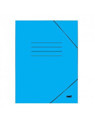 Next φάκελος με λάστιχο πλαστικοποιημένος γαλάζιο Υ35x25εκ.