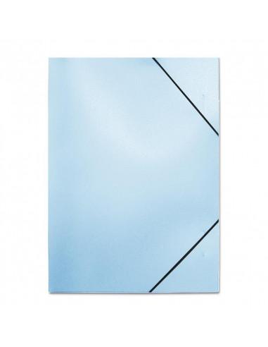 Next φάκελος με λάστιχο PP μπλε διάφανο Υ32x24x1εκ.