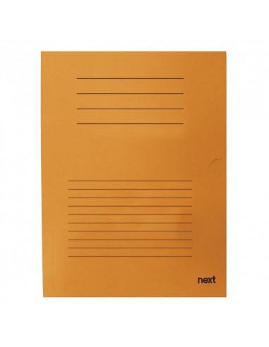 Next δίφυλλο παρουσίασης μανίλα πορτοκαλί Υ34x24εκ.