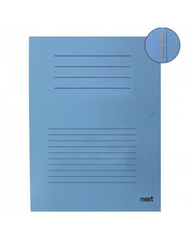 Next φάκελος με έλασμα μανίλα μπλε ανοιχτό Υ31x25εκ.