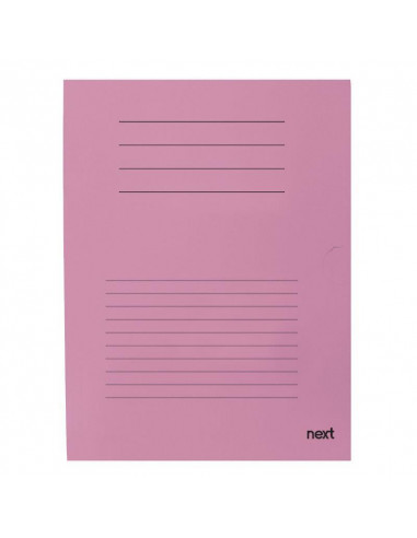 Next δίφυλλο παρουσίασης μανίλα ροζ Υ34x24εκ.