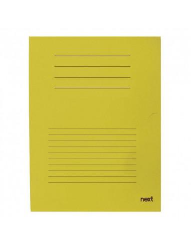 Next δίφυλλο παρουσίασης μανίλα κίτρινο Υ34x24εκ.