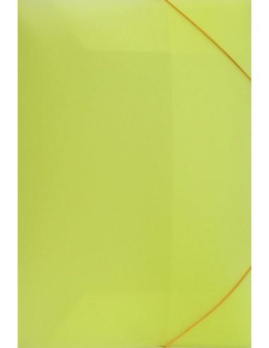 Φάκελος με λάστιχο PP φωσφ. κίτρινο Υ35x26εκ.
