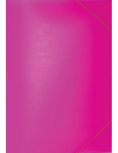 Φάκελος με λάστιχο PP φωσφ. φουξ Υ35x26εκ.