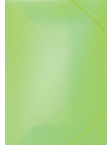 Φάκελος με λάστιχο PP φωσφ. λαχανί Υ35x26εκ.