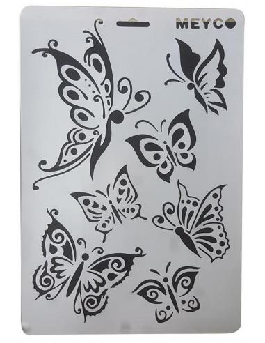 Στένσιλ απο πολυπροπυλένιο Α4 πεταλούδα