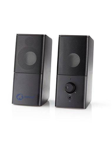 NEDIS GSPR10020BK Gaming Speakers 2.0 USB powered 3.5mm jack 18 W