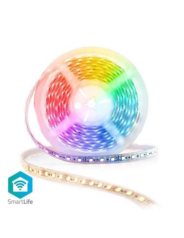 NEDIS WIFILS50CRGBW Wi-Fi Smart LED Strip Full Colour and Warm to Cool White 5m