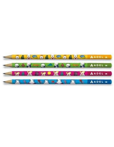 "Adel μολύβι ""Masallar"" 2Β κοκτέηλ 4 σχέδια"