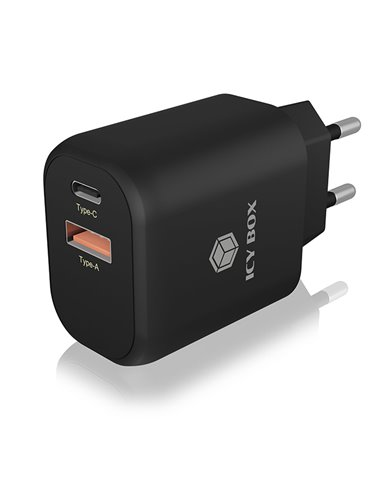 ICY BOX IB-PS102-PD 2-port USB fast charger for mobile devices up to 20 W
